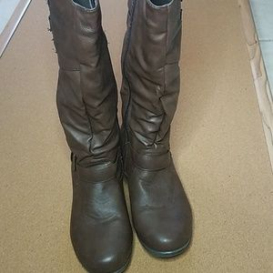 Brown faux leather Boots size 5